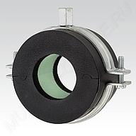 Изоляционный хомут тип H ‒ толщина изоляции 9,5‒16 мм, из двух частей, с DÄMMGULAST® и изоляционным блоком